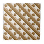 Rayas y puntos - leche y chocolate blanco azulejos ceramicos