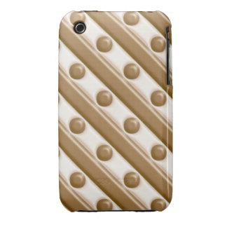 Rayas y puntos - leche y chocolate blanco funda bareyly there para iPhone 3 de Case-Mate