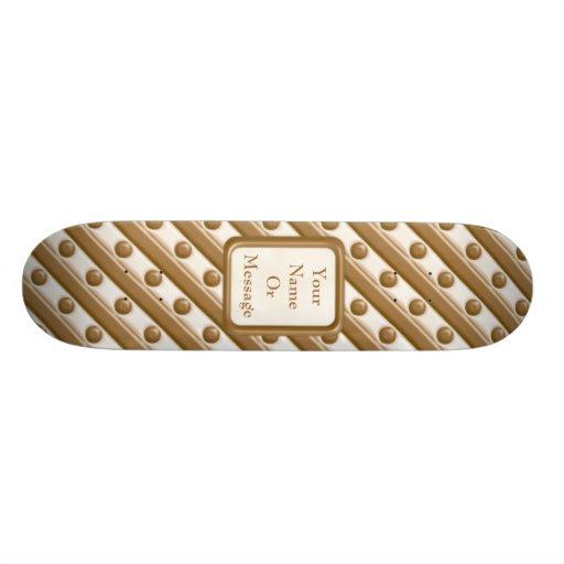 Rayas y puntos - leche y chocolate blanco patines personalizados