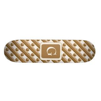 Rayas y puntos - leche y chocolate blanco patín personalizado