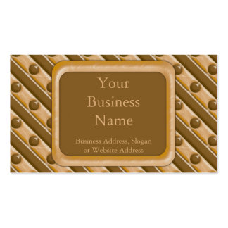 Rayas y puntos - mantequilla de cacahuete del choc tarjeta de visita