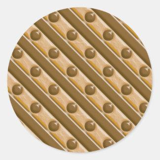 Rayas y puntos - mantequilla de cacahuete del etiqueta redonda