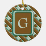 Rayas y puntos - menta del chocolate adornos de navidad
