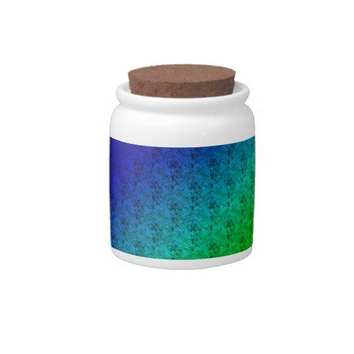 Rayas y tarro diagonales coloridos del caramelo de jarras para caramelos