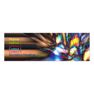Raybreak - Skinny Double-Sided Mini Business Cards (Pack Of 20)