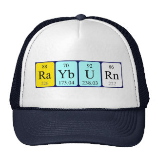 Rayburn periodic table name hat trucker hats