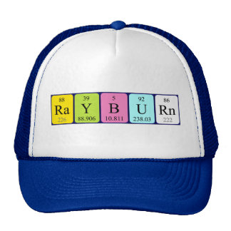 Rayburn periodic table name hat