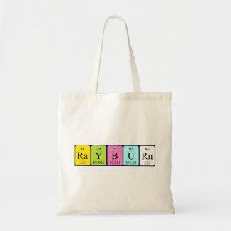 Rayburn periodic table name tote bag