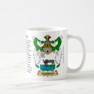 Rayburn, the Origin, the Meaning and the Crest Coffee Mug
