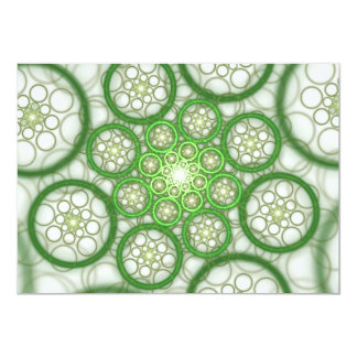 "Raydianze AP-Ions (Green) 5"" X 7"" Invitation Card"