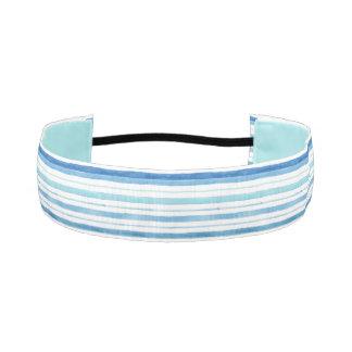 Ráyelo encima de la venda antideslizante azul bandas de cabello antideslizantes