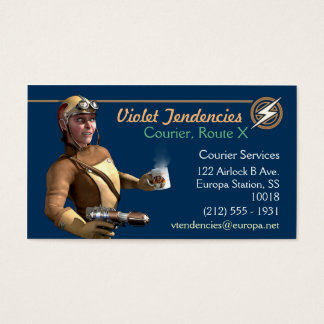 Raygun Courier Business Cards