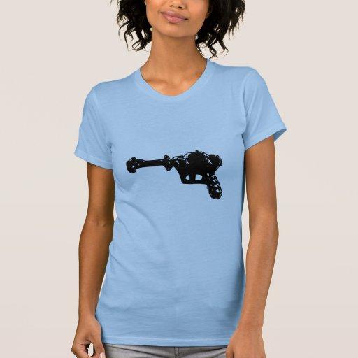 Raygun negro camiseta