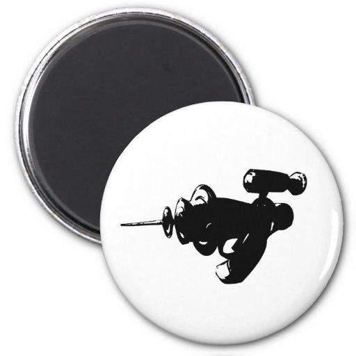 Raygun negro imán redondo 5 cm