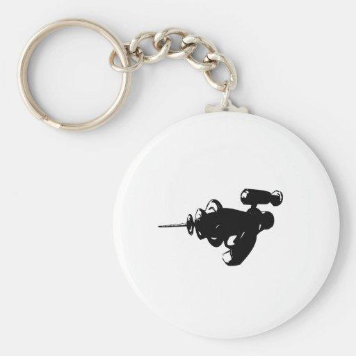 Raygun negro llaveros personalizados