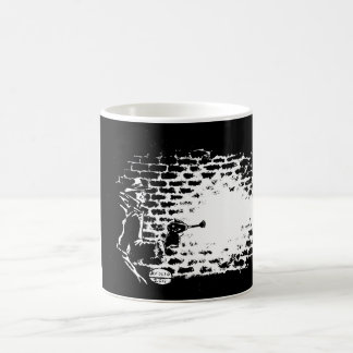 Raygun Noir mug, artwork by Michael Avolio Coffee Mug