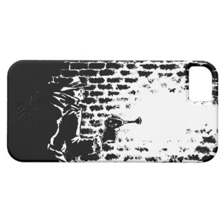 Raygun Noir phone case, artwork by Michael Avolio iPhone 5 Cover