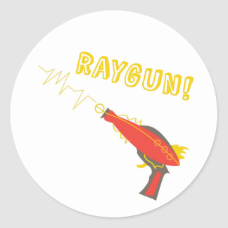 ¡Raygun! Pegatina Redonda