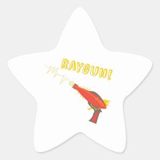 ¡Raygun! Pegatina En Forma De Estrella
