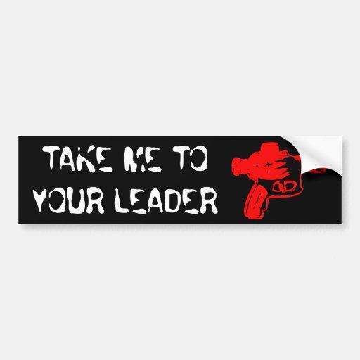 Raygun rojo etiqueta de parachoque
