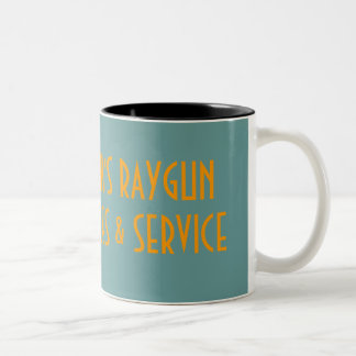 RAYGUN SALES & SERVICE Two-Tone COFFEE MUG