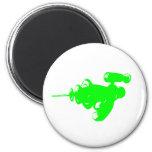 Raygun verde imán de frigorífico