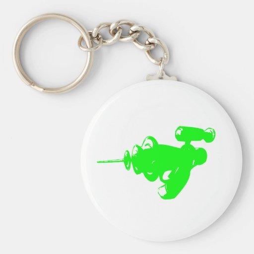 Raygun verde llavero personalizado
