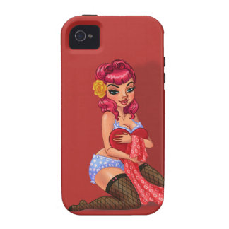 Raylene Raven - Pink Haired Pinup Model Case-Mate iPhone 4 Covers