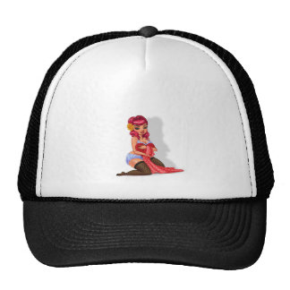 Raylene Raven - Pink Haired Pinup Model Trucker Hat