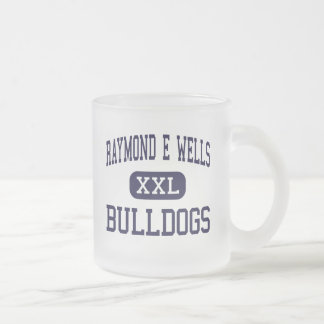 Raymond E Wells - Bulldogs - Junior - Greenwood Frosted Glass Coffee Mug