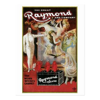 Raymond el acto mágico del gran del ~ vintage de l tarjeta postal