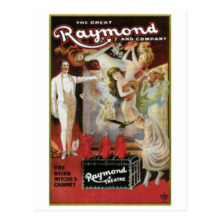 Raymond el acto mágico del gran del ~ vintage de postal