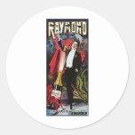 Raymond el acto mágico del gran del ~ vintage del  pegatinas