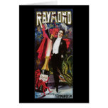 Raymond el acto mágico del gran del ~ vintage del  tarjetón