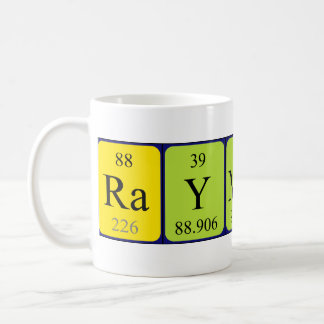 Raymond periodic table name mug