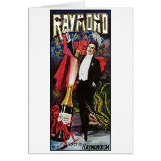 Raymond The Great ~ Magician Vintage Magic Act Card