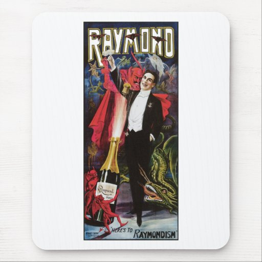 Raymond The Great ~ Magician Vintage Magic Act Mouse Pad