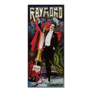 Raymond The Great ~ Magician Vintage Magic Act Print