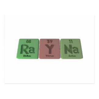 Rayna  as Radium Yttirum Sodium Postcard