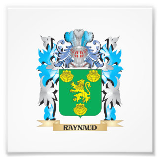 Raynaud Coat of Arms - Family Crest Photograph