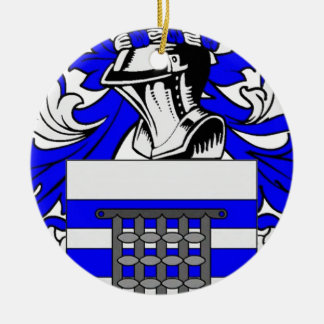 Raynolds Coat of Arms Double-Sided Ceramic Round Christmas Ornament
