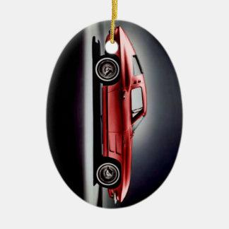 Rayo 1963 de Sting del Corvette Adorno Navideño Ovalado De Cerámica