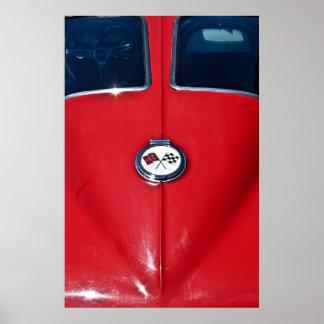 Rayo 1963 de Sting del Corvette Póster