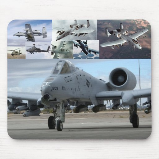 Rayo A10 y AH-64 Apache Mouse Pads