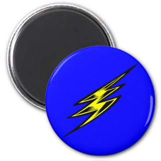 Rayo amarillo eléctrico imán redondo 5 cm