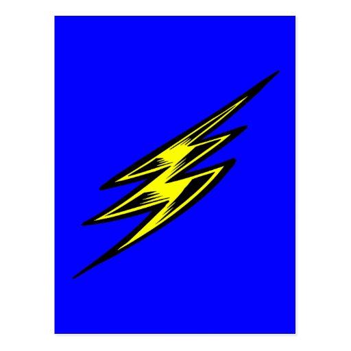 Rayo amarillo eléctrico postal