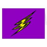 Rayo amarillo eléctrico tarjetas