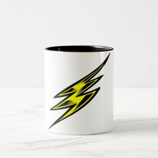 Rayo amarillo eléctrico taza