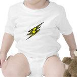 Rayo amarillo eléctrico traje de bebé