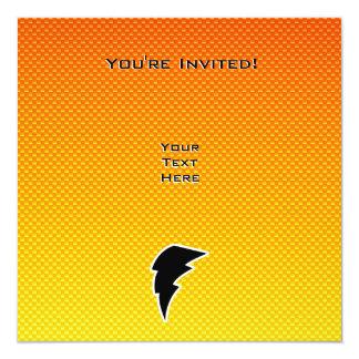 "Rayo amarillo-naranja invitación 5.25"" x 5.25"""